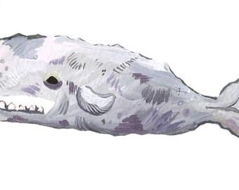 Sperm Whale Die-Cut Vinyl Sticker