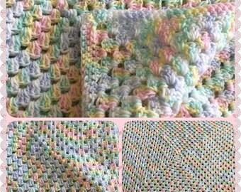 Unisex Baby Blanket, Crochet'd Baby Blanket, Baby Shower Gift, Coming Home Baby Blanket