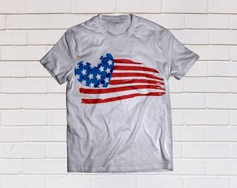 Distressed american flag svg, Usa flag svg, American flag svg, Heart svg, SVG Files, Cricut, Cameo, Cut file, Clipart, Svg, DXF, Png, Eps
