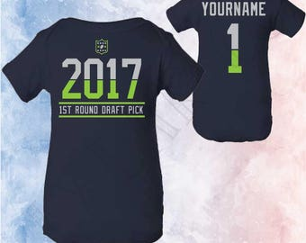 Seattle Seahawks Baby Birth Announcement, Seahawks Football Infant Shirt, Football Baby Shower, Seahawks Fan Gift, Gender Reveal Seahawks