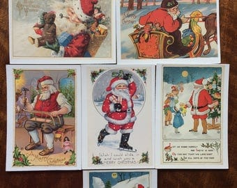 Seven Reproduction Christmas postcards - by Suzanne Presley