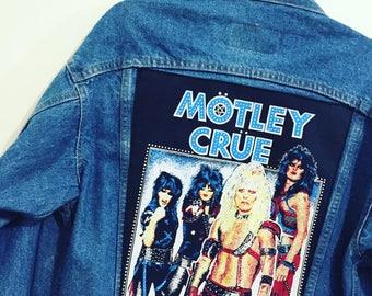 Vintage 80s Motley Crue Levis Denim Jacket