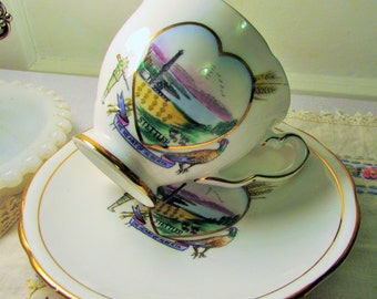 Stettler Alberta Royal Stafford teacup and saucer