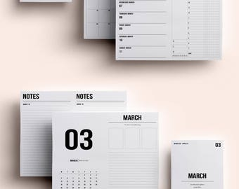 Cahier TN Insert   Cahier TN Printable   Cahier TN Printable Insert   Cahier Insert - March 2018