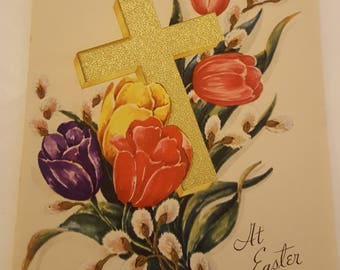 Vintage Easter Religious Greeting Card