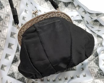 Delightful Garay Evening Bag in Black Satin