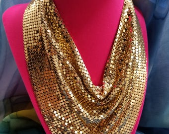 Exquisite Whiting & Davis Gold Mesh Necklace