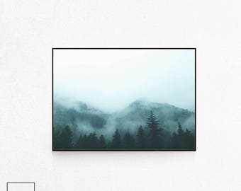Forest Print Large, Forest Print, Forest Photography, Forest Poster Art, Forest Poster, Forest Wall Art, Nordic Photography, Scandi Print