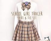School Uniform Tracer Overwatch: Skirt + Tie Set!
