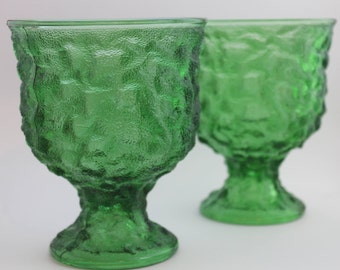 Pair of Large Green EO Brody Compote Dishes