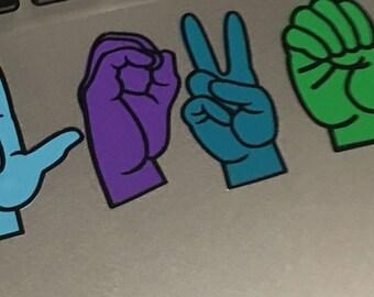 LOVE in ASL vinyl