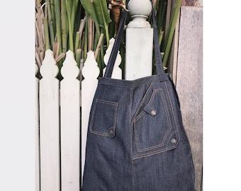 Customised Denim Tote Bag