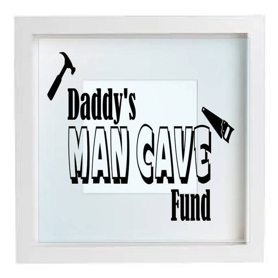 Man Cave Gifts For Him : Man cave fund gifts for him frame vinyl