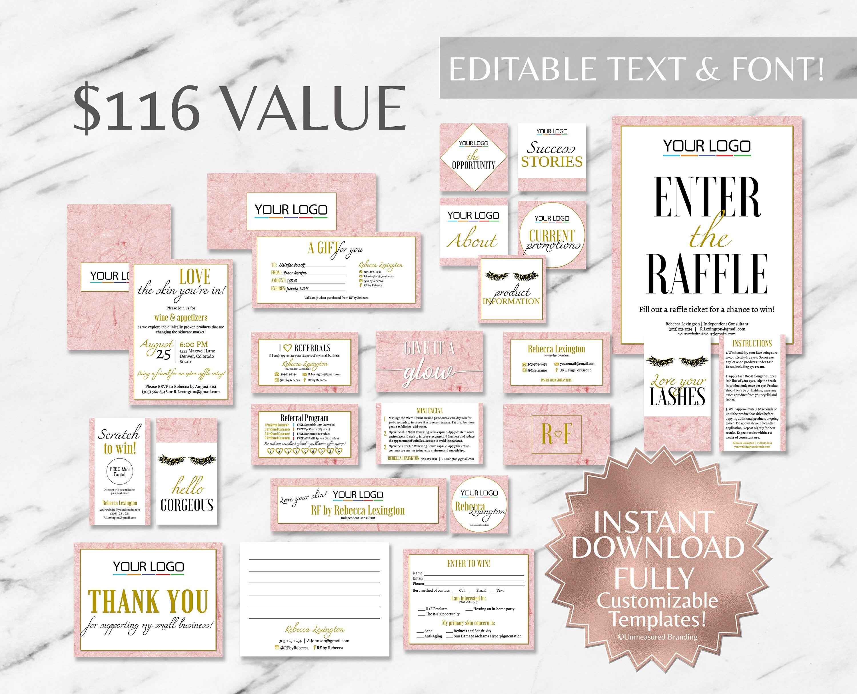 Pink Marble Marketing Kit RF Marketing Kit Rodan and Fields