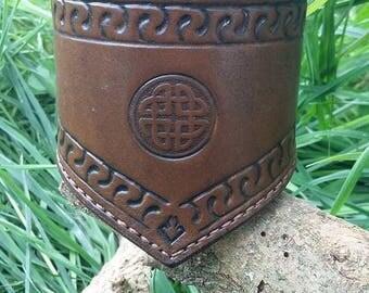 """Medieval/fantasy"" men's bracelet Celtic style."