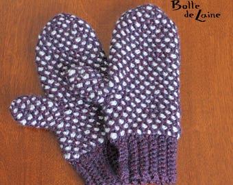 Mittens ARTIC, Women mittens, Tunisian Crochet for women