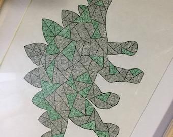 Hand Drawn Dinosaur