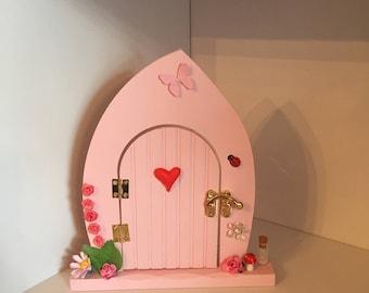 Pink Fairy Door, Handmade Fairy Door, Beautiful Pink Fairy Door