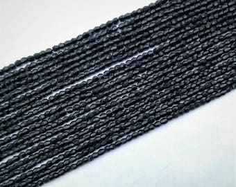 Black Spinel  Faceted drum shape  beads  , 3X3.5 mm to 3.5X4 mm , 13 inch strand approx
