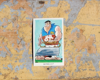 "1972 Sunicrust - No.24 Ironed Out  ""Weg's Footy Funnies"" Collector Cards"
