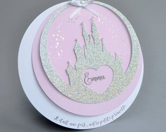 Announcements of birth or christening girl fairy tale theme - Princess invitation