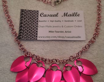 "Aluminum Scale Bib Necklace 18"" (Med Scales)"