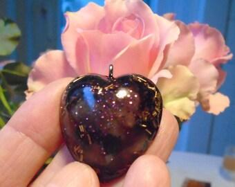 Orgonherz, orgone pendant, gift for you, Valentine's Day