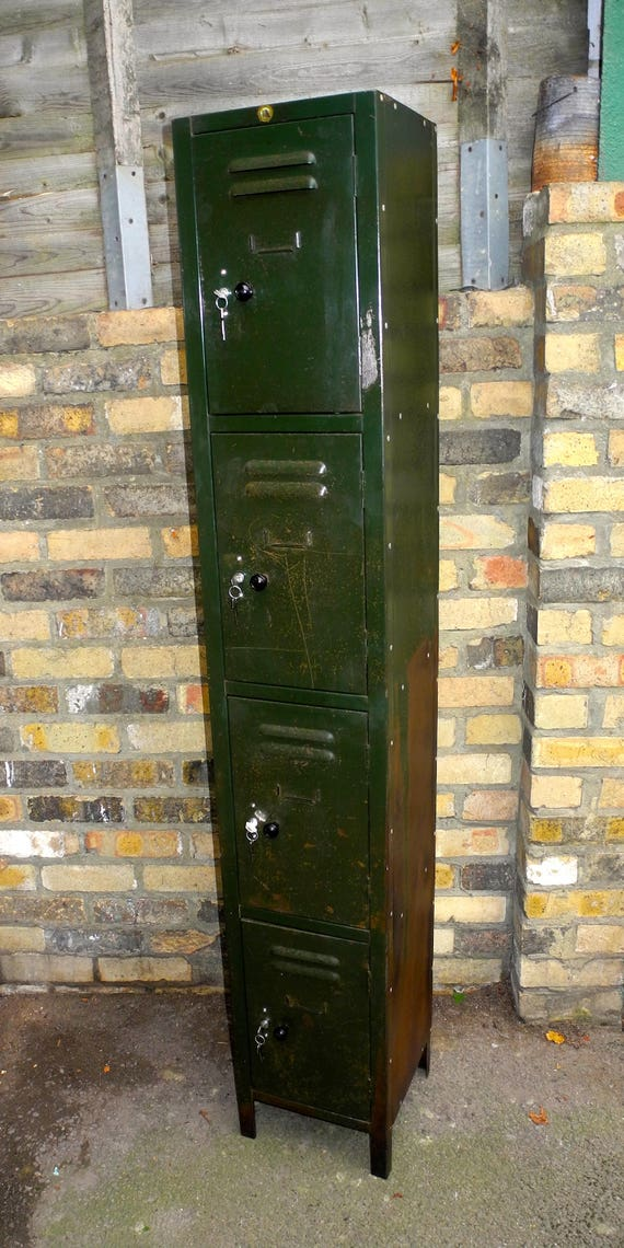 Vintage British Made Metal Locker