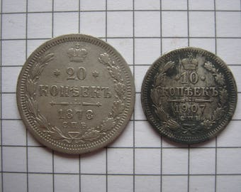 Silver coins of 1878 1907