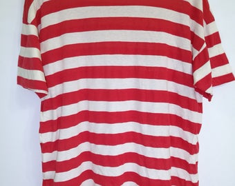 90s Vintage 50/50 Punch Out Classic Stripes T-shirt