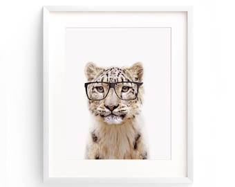 Large Cat Poster, Cat Printable, Leopard Print, Safari Nursery Print, Animal Nursery Print, Leopard Wall Art, Animal Print, Cat Print