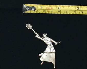 Sterling Silver Tennis Pin