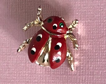 Vintage lady bug pin, lady but brooch, insect pin, insect brooch, ladybug pin, ladybug brooch, insect jewelry, lady bug jewelry, ladybugs