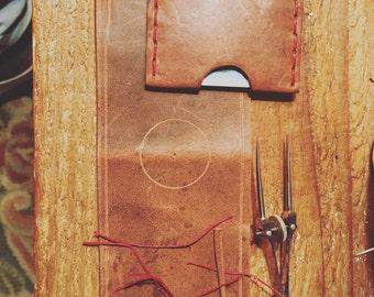 Leather Wallet / Handmade / Single sleeve - billfold - pouch