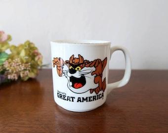 Vintage Tasmanian Devil Mug, Warner Bros 1981, Marriott's Great America Souvenir Coffee Mug, Looney Tunes