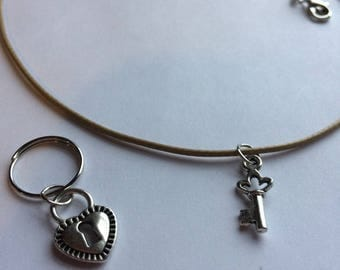 Lock & Key Bridle Charm and Necklace