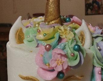 Fondant Unicorn Cake Topper Set