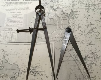 2 Moore & Wright calipers Made in England Industrial decor Vintage tools Nautical decor