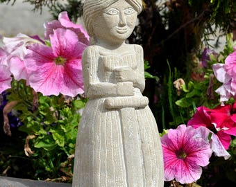 Medieval Lady stone Sculpture