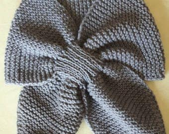 Dark grey cotton scarf