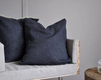 Black cushion cover