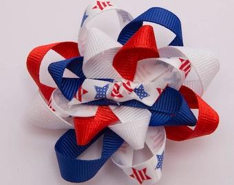 Patriotic Loopy Bow