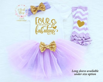 Fourth Birthday Outfit, 4th Birthday Girl Outfit, Fourth Birthday Outfit Girl, Toddler's 4th Birthday Shirt, 4th Birthday Shirt  BFF1