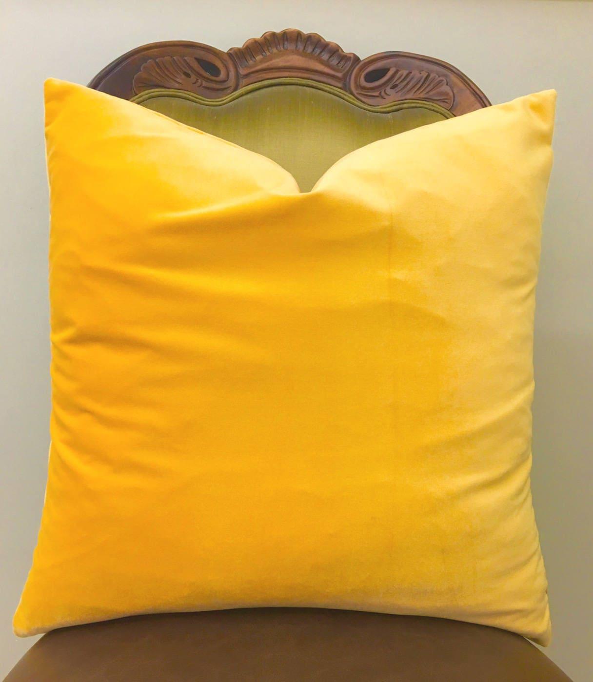 Luxury Yellow Velvet Pillow Covers Yellow Pillows Velvet