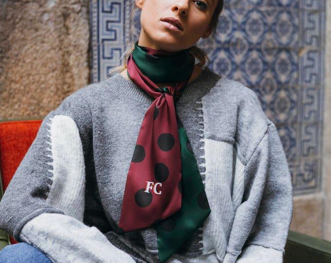 Polka Dots scarf + Monogram