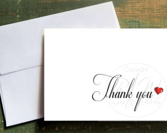 Russic Wedding Thank you Card