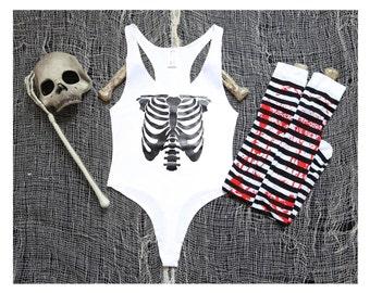 Skeleton Bodysuit Halloween Ready