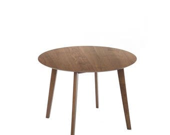 Round dining table, modern round table, wood round table, dining table, round kitchen table, modern dining table, wood dining table.