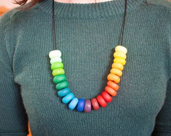 Marshlands - Polymer Clay Beaded Necklace