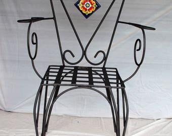 "Sicilian Wrought Iron Chair ""Etna"""